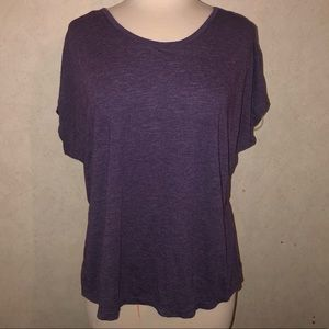 Gaiam || purple slit cross back tee